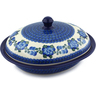 12-inch Stoneware Baker with Cover - Polmedia Polish Pottery H4640I