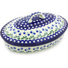 12-inch Stoneware Baker with Cover - Polmedia Polish Pottery H5280G