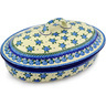 12-inch Stoneware Baker with Cover - Polmedia Polish Pottery H9330C