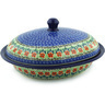 12-inch Stoneware Baker with Cover - Polmedia Polish Pottery H9975E