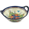12-inch Stoneware Bowl with Handles - Polmedia Polish Pottery H2814I