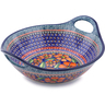 12-inch Stoneware Bowl with Handles - Polmedia Polish Pottery H3787I