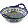 12-inch Stoneware Bowl with Handles - Polmedia Polish Pottery H4779I