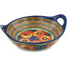 12-inch Stoneware Bowl with Handles - Polmedia Polish Pottery H4906I