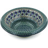 12-inch Stoneware Bowl with Rolled Lip - Polmedia Polish Pottery H8570B