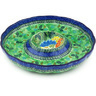 12-inch Stoneware Chip and Dip Platter - Polmedia Polish Pottery H4998G