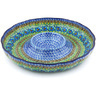 12-inch Stoneware Chip and Dip Platter - Polmedia Polish Pottery H5435G