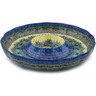 12-inch Stoneware Chip and Dip Platter - Polmedia Polish Pottery H6976H