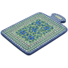 12-inch Stoneware Cutting Board - Polmedia Polish Pottery H7694I