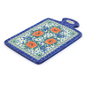 12-inch Stoneware Cutting Board - Polmedia Polish Pottery H7696I