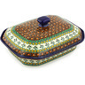 12-inch Stoneware Dish with Cover - Polmedia Polish Pottery H3586G