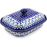 12-inch Stoneware Dish with Cover - Polmedia Polish Pottery H7782B