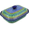 12-inch Stoneware Dish with Cover - Polmedia Polish Pottery H8053D