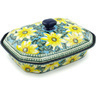 12-inch Stoneware Dish with Cover - Polmedia Polish Pottery H9551G