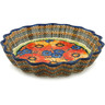 12-inch Stoneware Fluted Pie Dish - Polmedia Polish Pottery H5493F