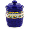 12-inch Stoneware Jar with Lid and Handles - Polmedia Polish Pottery H1605G