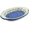 12-inch Stoneware Platter with Handles - Polmedia Polish Pottery H0278I
