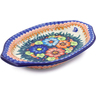 12-inch Stoneware Platter with Handles - Polmedia Polish Pottery H1394J