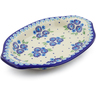 12-inch Stoneware Platter with Handles - Polmedia Polish Pottery H4020J