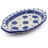 12-inch Stoneware Platter with Handles - Polmedia Polish Pottery H4253J