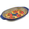 12-inch Stoneware Platter with Handles - Polmedia Polish Pottery H5405I