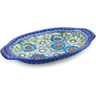 12-inch Stoneware Platter with Handles - Polmedia Polish Pottery H6423J