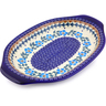 12-inch Stoneware Platter with Handles - Polmedia Polish Pottery H8971I