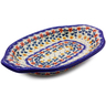 12-inch Stoneware Platter with Handles - Polmedia Polish Pottery H9006I