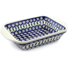 12-inch Stoneware Rectangular Baker with Handles - Polmedia Polish Pottery H1036D