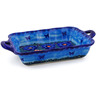 12-inch Stoneware Rectangular Baker with Handles - Polmedia Polish Pottery H1729K
