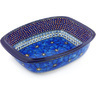 12-inch Stoneware Rectangular Baker with Handles - Polmedia Polish Pottery H5723G