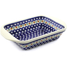 12-inch Stoneware Rectangular Baker with Handles - Polmedia Polish Pottery H7929A