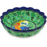 12-inch Stoneware Scalloped Bowl - Polmedia Polish Pottery H5309G