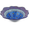 12-inch Stoneware Scalloped Bowl - Polmedia Polish Pottery H5478G
