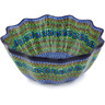 12-inch Stoneware Scalloped Bowl - Polmedia Polish Pottery H5761G