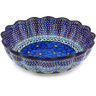 12-inch Stoneware Scalloped Bowl - Polmedia Polish Pottery H6151G