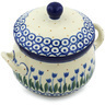 12 oz Stoneware Bouillon Cup with Lid - Polmedia Polish Pottery H1627H