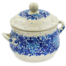 12 oz Stoneware Bouillon Cup with Lid - Polmedia Polish Pottery H7935J