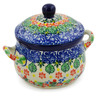 12 oz Stoneware Bouillon Cup with Lid - Polmedia Polish Pottery H7940J