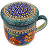 12 oz Stoneware Brewing Mug - Polmedia Polish Pottery H0186E