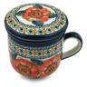 12 oz Stoneware Brewing Mug - Polmedia Polish Pottery H4924I