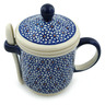 12 oz Stoneware Brewing Mug with Spoon - Polmedia Polish Pottery H4160I