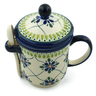 12 oz Stoneware Brewing Mug with Spoon - Polmedia Polish Pottery H6767D