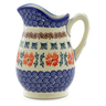 12 oz Stoneware Pitcher - Polmedia Polish Pottery H4262J