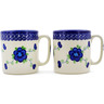12 oz Stoneware Set of 2 Mugs - Polmedia Polish Pottery H1565K