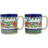 12 oz Stoneware Set of 2 Mugs - Polmedia Polish Pottery H4629K