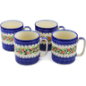 12 oz Stoneware Set of 4 Mugs - Polmedia Polish Pottery H9999J