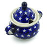 12 oz Stoneware Sugar Bowl - Polmedia Polish Pottery H4337J