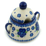 12 oz Stoneware Sugar Bowl - Polmedia Polish Pottery H6345F