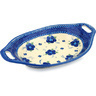 13-inch Stoneware Bowl with Handles - Polmedia Polish Pottery H0423C